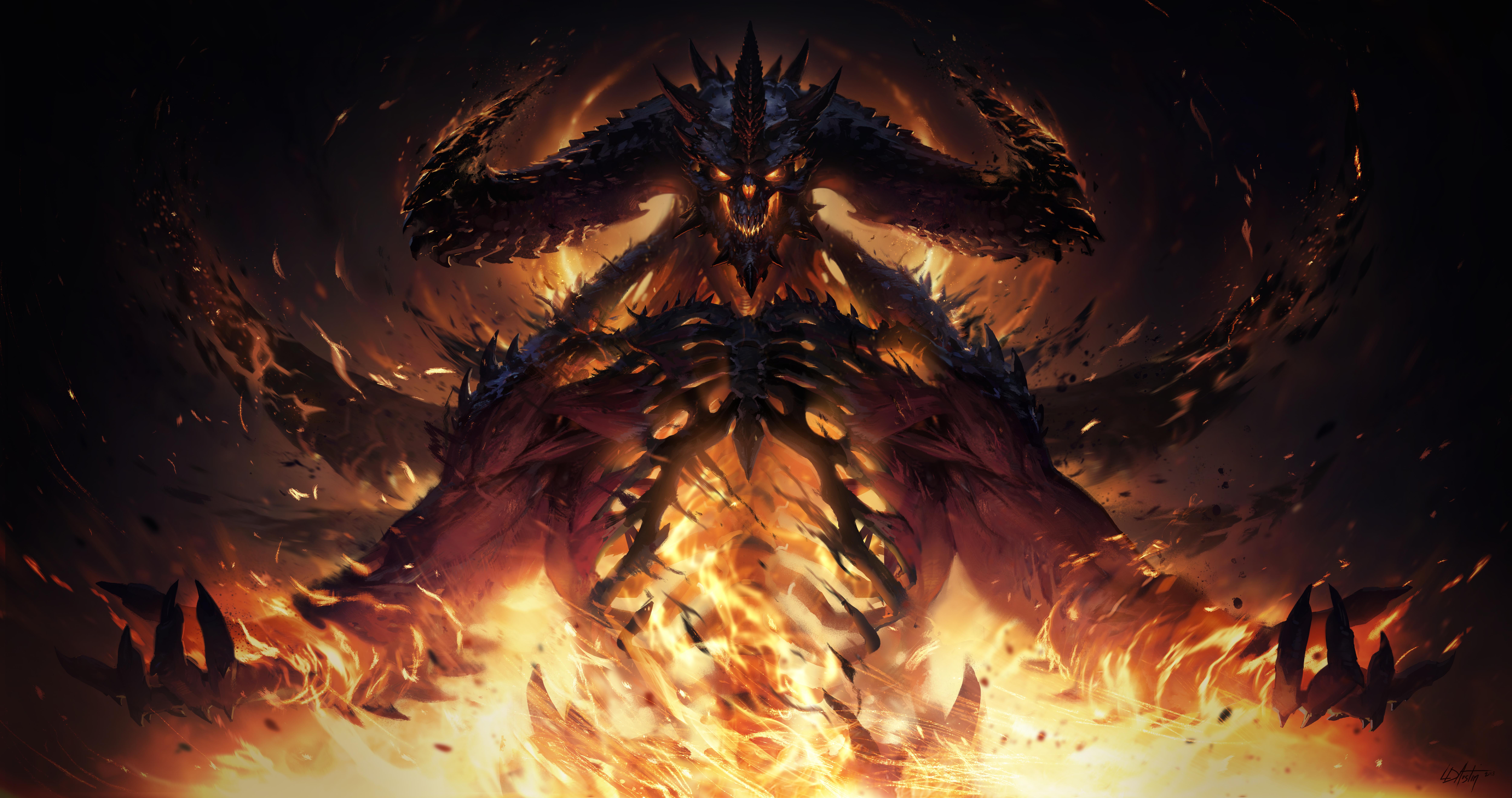 Illustration tirée du développement de Diablo Immortal.